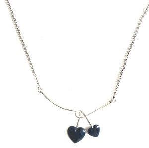 VTG Sarah Coventry Double Heart Necklace